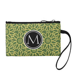 Treetop Sunflower Personalized Monogram Coin Wallet