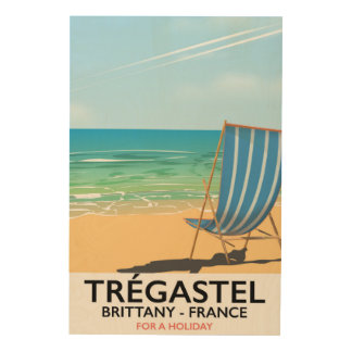 Trégastel, Brittany France beach vacation poster