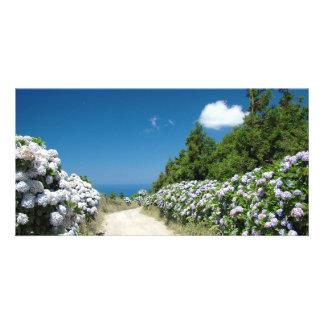 Trekking trail photo card