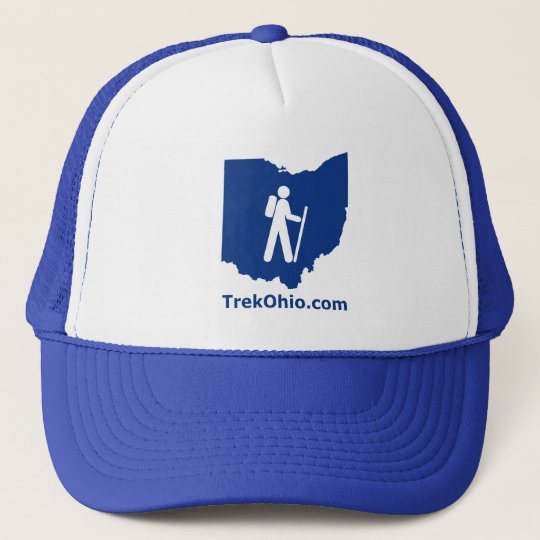 TrekOhio Trucker Hat, Royal Blue Cap