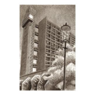 Trellick Tower original drawing Stationery