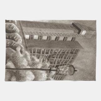 Trellick Tower original drawing Tea Towel