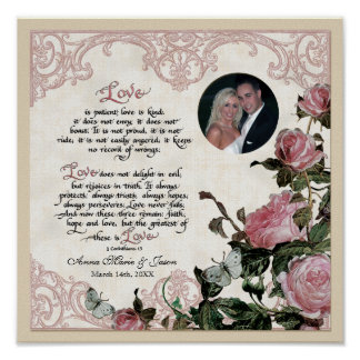 Trellis Rose Vintage - Art to Frame Personalized Posters