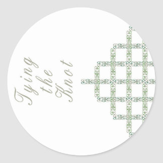 Trellis Tying the Knot Round Sticker