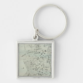 Tremont, W Farms Silver-Colored Square Key Ring