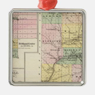 Trempealeau County, Wisconsin Silver-Colored Square Decoration