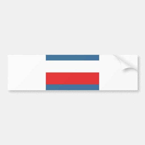 Trenciansky flag slovakia county region bumper sticker