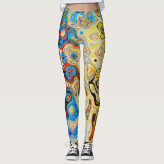 Trend-Setters Modern Abstract Artsy Style Leggings
