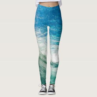 Trend-Setters Ocean Wave Unique Designer Leggings