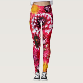 Trend-Setters Red Floral Stylish Designer Leggings