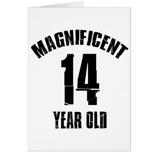 TRENDING 14 YEAR OLD BIRTHDAY DESIGNS CARD