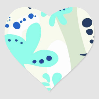 Trending abstract Pattern light colour floral blob Stickers