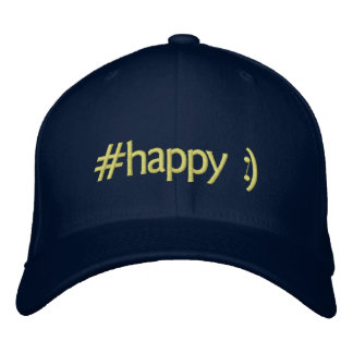 trending happy embroidered hats