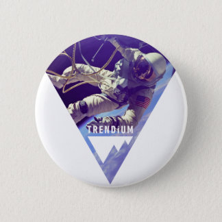 Trendium Authentic Astronaut in Inverted Triangle 6 Cm Round Badge