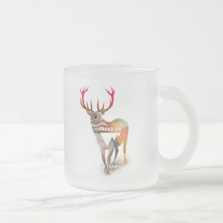 Trendium Majestic Elk Sow Frosted Glass Coffee Mug