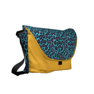 Trendy 2014 Teal and Purple Leopard Print Commuter Bags