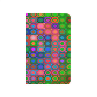 Trendy Abstract Art Colored Circle Grid Journal