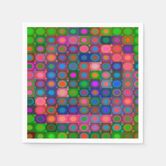 Trendy Abstract Art Disposable Serviette