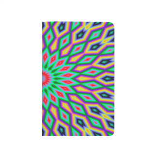 Trendy Abstract-Art Green And Blue Pattern Journal