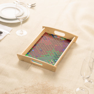 Trendy Abstract Art Psychedelic Serving Tray