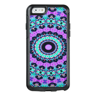 Trendy Abstract Art Purple And Blue Concentric OtterBox iPhone 6/6s Case