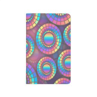 Trendy Abstract Art Purple Circles Pattern Journals