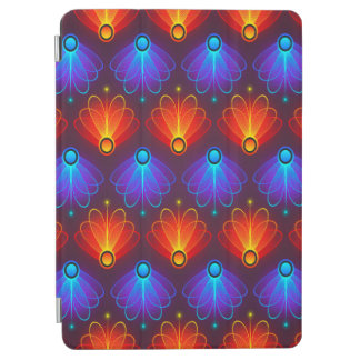 Trendy Abstract Blue And Orange Wings iPad Air Cover