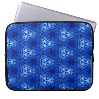 Trendy Abstract Blue Background Laptop Sleeve