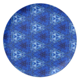 Trendy Abstract Blue Background Plate