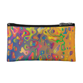 Trendy Abstract Colorful Contour Map Makeup Bag