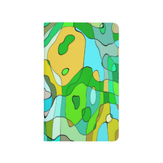 Trendy Abstract Green Contour Background Journal