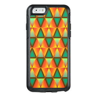 Trendy Abstract Orange And Green Daimond Pattern OtterBox iPhone 6/6s Case
