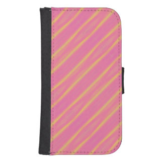 Trendy Abstract Pastel Diagonal Stripes Samsung S4 Wallet Case