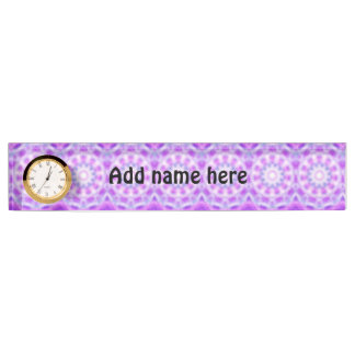 Trendy abstract pattern name plate