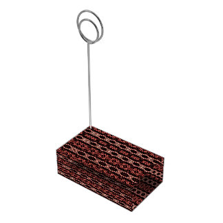 Trendy abstract pattern place card holder