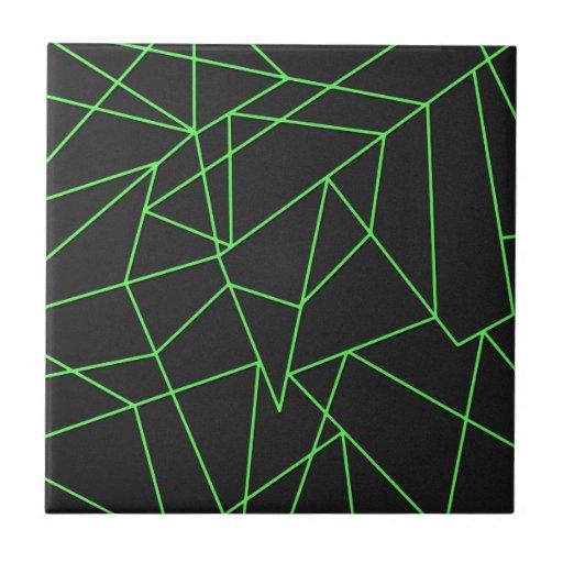 Trendy Abstract Shattered Art Ceramic Tiles