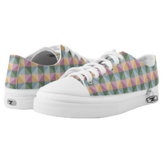 Trendy Abstract  square and triangle pattern Low Tops