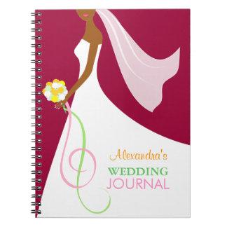 Trendy African American Bride's Wedding Journal Notebooks