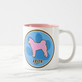 Trendy Akita Two-Tone Coffee Mug