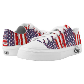 Trendy american flag low tops