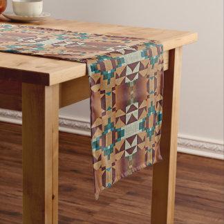 Trendy American Indian Native Tribe Mosaic Pattern Medium Table Runner