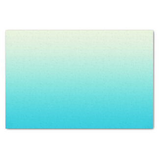 Trendy Aqua Teal to Vintage White Ombre Gradient Tissue Paper
