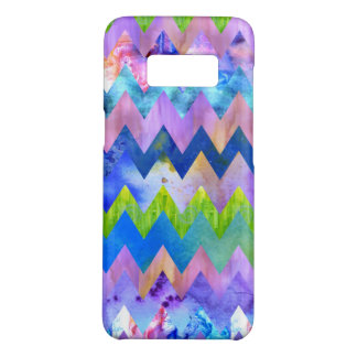 Trendy Artsy Watercolor Painting Chevron Pattern Case-Mate Samsung Galaxy S8 Case