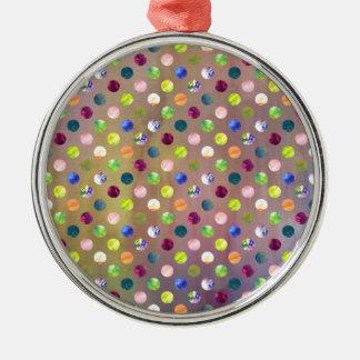 Trendy Artsy Watercolor Painting Polka Dot Pattern Ornaments