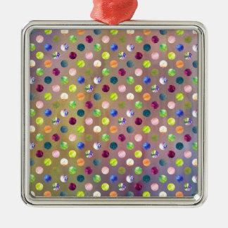 Trendy Artsy Watercolor Painting Polka Dot Pattern Christmas Tree Ornaments