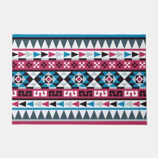 Trendy Aztec Inspired Geometric Pattern Doormat