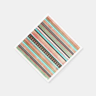 Trendy aztec paper serviettes
