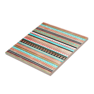 Trendy aztec small square tile