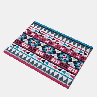 Trendy Aztec Style Geometric Pattern Doormat