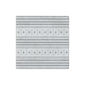 Trendy Aztec Tribal Print Geometric Pattern Gray Stone Magnet